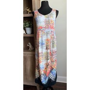 Jams World Vintage Lattice Print Midi Dress XS